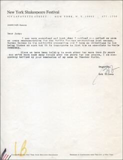 BOB ULLMAN - TYPED LETTER SIGNED