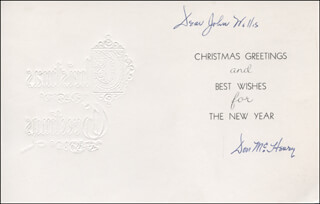 DON McHENRY - CHRISTMAS / HOLIDAY CARD SIGNED