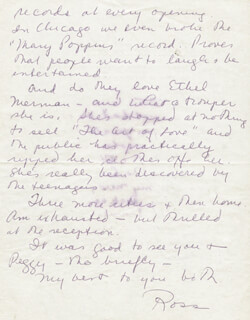 ROSS HUNTER - AUTOGRAPH LETTER SIGNED
