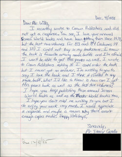 STACY CONALLO - AUTOGRAPH LETTER SIGNED 12/04/1985