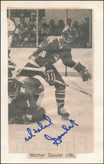 MICHEL GOULET - NEWSPAPER PHOTOGRAPH SIGNED