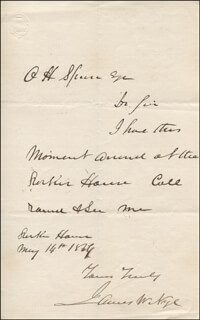 GOVERNOR JAMES W. NYE - AUTOGRAPH LETTER DOUBLE SIGNED 05/14/1864