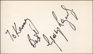 GEORGE LAZENBY - AUTOGRAPH NOTE SIGNED