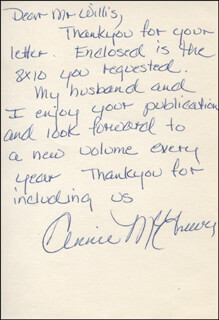 ANNIE MCGREEVEY - AUTOGRAPH LETTER SIGNED