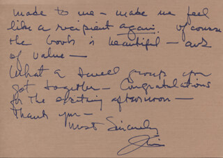 JAMES MITCHELL - AUTOGRAPH LETTER SIGNED 05/27/1981