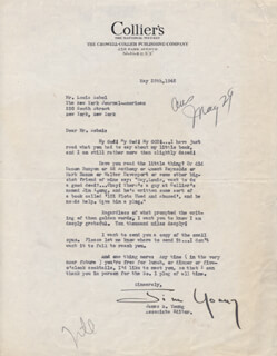 JAMES N. YOUNG - TYPED LETTER SIGNED 05/28/1945