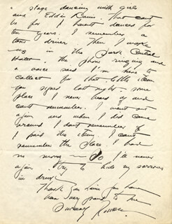 RUSSELL PATTERSON - AUTOGRAPH LETTER SIGNED