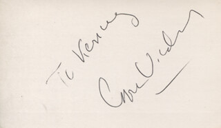 GORE VIDAL - INSCRIBED SIGNATURE