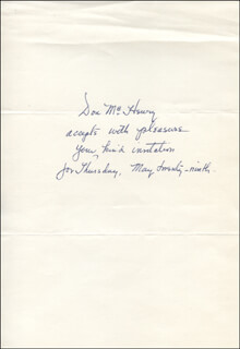 DON McHENRY - AUTOGRAPH NOTE SIGNED CIRCA 1975