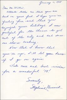 STEPHANIE MUSNICK - AUTOGRAPH LETTER SIGNED 01/11/1978