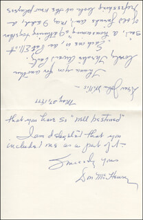 DON McHENRY - AUTOGRAPH LETTER SIGNED 05/27/1977