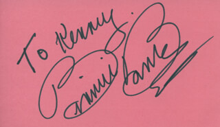BINNIE BARNES - INSCRIBED SIGNATURE