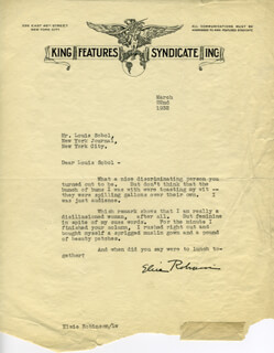 ELSIE ROBINSON - TYPED LETTER SIGNED 03/22/1932