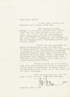 FAY KING - TYPED LETTER SIGNED 02/01/1934