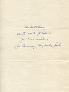 DON McHENRY - AUTOGRAPH NOTE SIGNED CIRCA 1979