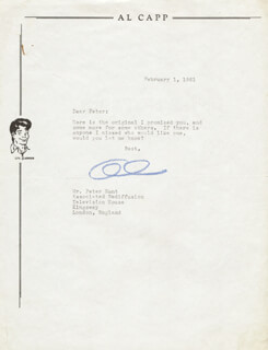 AL CAPP - TYPED LETTER SIGNED 02/01/1961