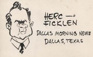 Autographs: HERC (JACK HOWELLS) FICKLEN - ORIGINAL ART SIGNED