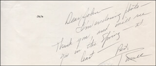 RUSSELL NYPE - AUTOGRAPH LETTER SIGNED