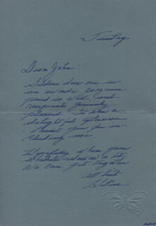 HELENE CORNELL - AUTOGRAPH LETTER SIGNED CIRCA 1974