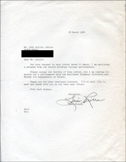 LUIS RIVERA - TYPED LETTER SIGNED 03/28/1980