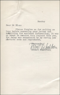 ROBERT BLACKBURN - TYPED LETTER SIGNED