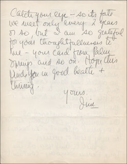 JIM OYSTER - AUTOGRAPH LETTER SIGNED 04/28/1960