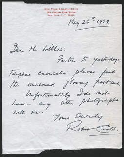 ROBERT COOTE - AUTOGRAPH LETTER SIGNED 05/26/1979