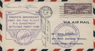 EARLE OVINGTON - FIRST DAY COVER SIGNED CO-SIGNED BY: FRANK H. HITCHCOCK