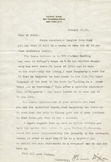 THOMAS DIXON JR. - TYPED LETTER SIGNED 01/13/1932