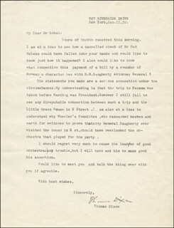 THOMAS DIXON JR. - TYPED LETTER SIGNED 01/11/1932