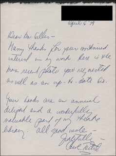 CAROL TEITEL - AUTOGRAPH LETTER SIGNED 04/06/1979
