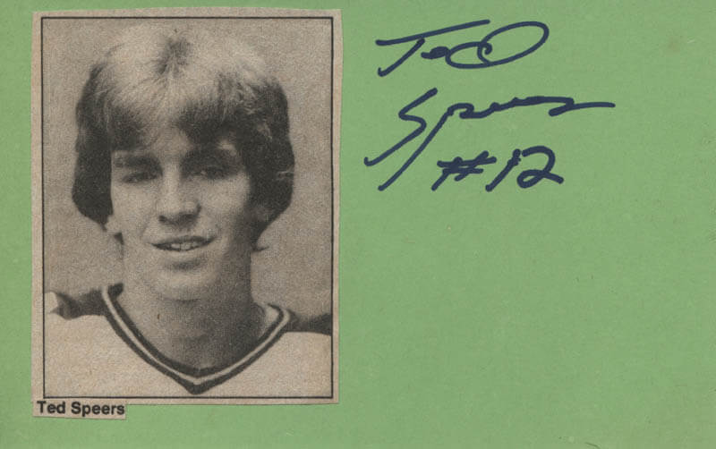 TED SPEERS - AUTOGRAPH