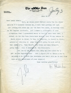 H. I. PHILLIPS - TYPED LETTER SIGNED 06/30