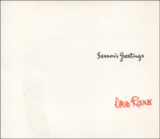DAVID ROUNDS - CHRISTMAS / HOLIDAY CARD SIGNED