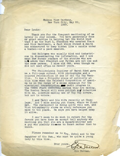 GILBERT PATTEN - TYPED LETTER SIGNED 05/20/1939