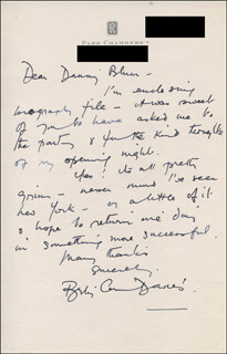 BETTY ANN DAVIES - AUTOGRAPH LETTER SIGNED