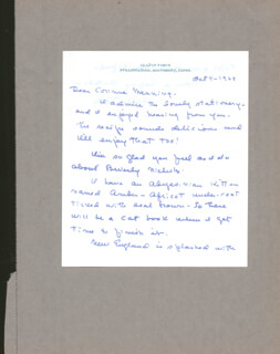 GLADYS TABER - AUTOGRAPH LETTER SIGNED 10/04/1968