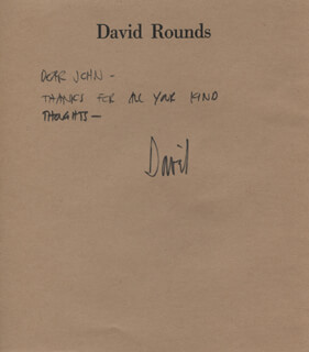 DAVID ROUNDS - AUTOGRAPH NOTE SIGNED
