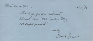 FRANK GERACI - AUTOGRAPH NOTE SIGNED 12/04/1980