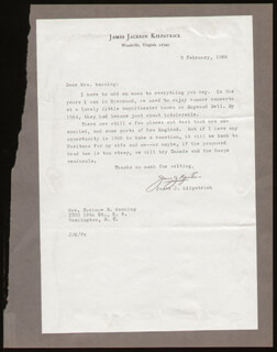 JAMES J. KILPATRICK - TYPED LETTER SIGNED 02/03/1968