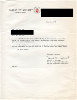 HOWARD B. GOTLIEB - TYPED LETTER SIGNED 05/28/1969