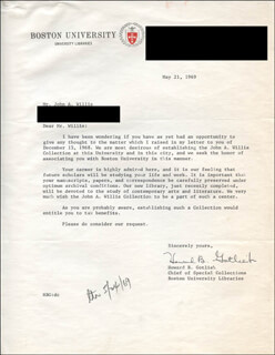 HOWARD B. GOTLIEB - TYPED LETTER SIGNED 05/21/1969