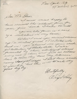 WRIGHT KING - AUTOGRAPH LETTER SIGNED 03/02/1950