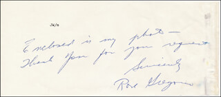ROSE GREGORIO - AUTOGRAPH NOTE SIGNED