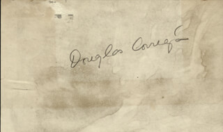 Autographs: DOUGLAS WRONG WAY CORRIGAN - SIGNATURE(S) CIRCA 1937