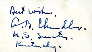 Autographs: ALBERT B. HAPPY CHANDLER - TICKET SIGNED