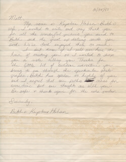 KRYSTINE HOBSON - AUTOGRAPH LETTER SIGNED 02/28/1990