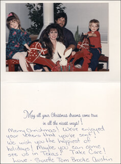 SUZETTE BOGGS - AUTOGRAPH LETTER ON CHRISTMAS / HOLIDAY CARD SIGNED