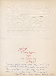SUZETTE BOGGS - AUTOGRAPH NOTE ON CHRISTMAS / HOLIDAY CARD SIGNED