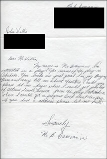 B. DEMIANIN - AUTOGRAPH LETTER SIGNED CIRCA 1980